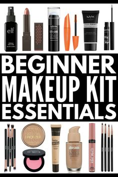 Makeup Kit for Beginners | A breakdown of the 20 essential budget friendly drugstore beauty products every girl should have in their make up bag!!! From the basics (foundation, blush, eyeliner, mascara, and lip gloss) to the essential add-ons that help give you a professional look (primer, brush sets, bronzer, highlighter, and our fave eyebrow set) we'll teach you everything you need to know – and where to get it all for less! #makeup #makeuptips #makeuphowto #beautytips #makeuphacks