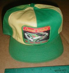 e0697ee2ec775 Vintage Darrell Waltrip  81 Grand National Champion Mesh Cap Snapback Hat   fashion  clothing