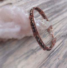 Hey, I found this really awesome Etsy listing at https://www.etsy.com/listing/244591642/stackable-copper-bangle-beaded-bangle