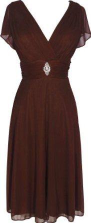 Short Sleeve Mesh Knee-Length Bridesmaid Dress