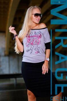 Szürke-fekete, elől mintás és feliratos, ejtett vállú ruha. 13.490 Ft T Shirt, Tops, Women, Fashion, Andalusia, Supreme T Shirt, Moda, Tee Shirt, Fashion Styles