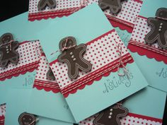 Handmade Gingerbread Cookie Holiday Cards Set of by apaperaffaire, $20.00
