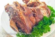 Crispy Pata is a Filipino crispy pig leg dish. It is traditionally cooked by deep frying the leg. I tried to experiment on other easy ways to make crispy pata for the benefit of our readers.