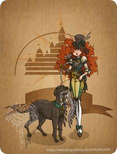 Disney steampunk: Merida by ~MecaniqueFairy on deviantART
