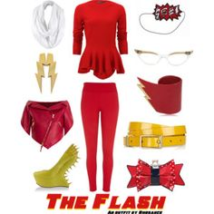 A wearable feminine #TheFlash #outfit I created, inspired by the #DCComics character. #geek #fashion