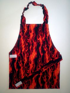 Boy's apron Child's apron Toddler apron flame by EverSewSweet, $12.00