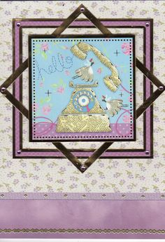 Hunkydory topper and cardstock for 'Hello' card