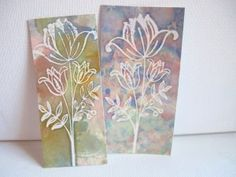 Alcohol ink  embossing powder technique