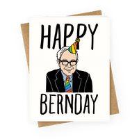 Happy Bernday Greetingcard