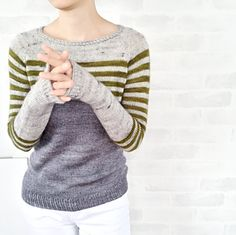 Ravello by Isabell Kraemer | fingering weight sweater knitting pattern