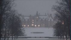 It's a snowy, beautiful day at Biltmore House today, March 6, 2013! #Biltmore #snow #Asheville