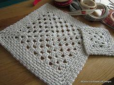 Simple Place Mat  p.s. I crochet...