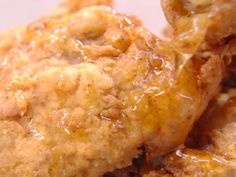 Fried Chicken with Ancho Honey recipe from Bobby Flay via Food Network
