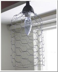 Cheap & Chic DIY Chicken Wire Light
