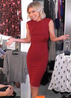 Kelly Ripa in a Roland Mouret dress. Kelly's Fashion Finder.