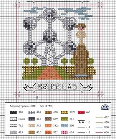 Dmc Cross Stitch, Cross Stitch House, Cross Stitch Boards, Cross Stitching, Embroidery Sampler, Cross Stitch Embroidery, Cross Stitch Designs, Cross Stitch Patterns, Cross Stitch Landscape