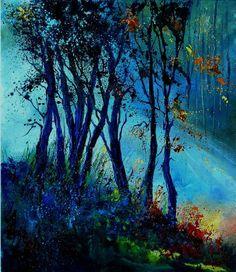 """Saatchi Online Artist: Pol Ledent; Oil 2013 Painting """"Mist 310803"""""""
