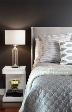 moody grey silver and white bedroom design simple clean bedroom - Gray Bedroom Design