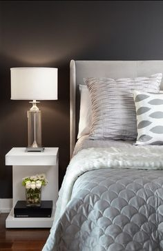 moody grey silver and white bedroom design simple clean bedroom - Bedroom Ideas Gray