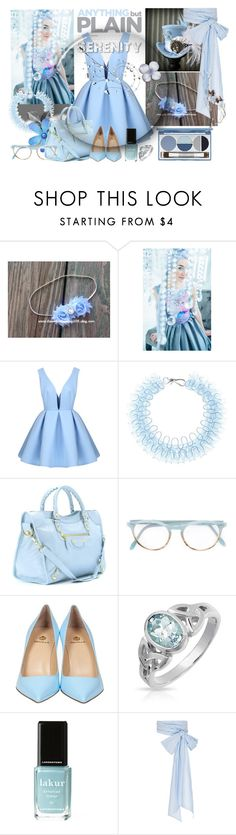 """Colours of 2016!- #2 SERENITY"" by slynne-messer ❤ liked on Polyvore featuring Mary Katrantzou, Balenciaga, Pantos, Semilla, Bling Jewelry, Londontown, MDS Stripes, DuWop, women's clothing and women"