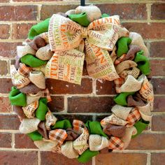 Fall Burlap Wreath by KsSouthernCharm on Etsy