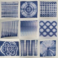 10 shibori techniques to try out and build on . Free tutorial with pictures on how to make… Tie Dye Folding Techniques, Fabric Dyeing Techniques, Shibori Fabric, Shibori Tie Dye, Dyeing Fabric, Textile Dyeing, Textile Art, How To Tie Dye, How To Dye Fabric