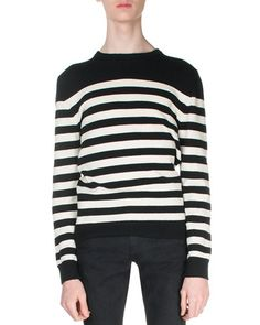 c8a26a7df87 Yves Saint Laurent Striped Cashmere Sweater