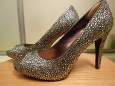 I guess I'll just have to make my own sparkly shoes for the wedding....