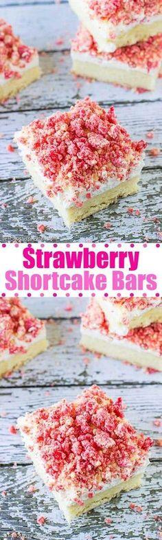 Strawberry sbortcake bars