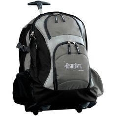 a740a0ebbe Hustle Until - Port Authority Wheeled Backpack Gry Wht School Trolley Bags