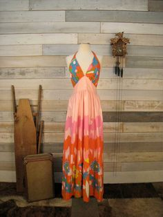Vintage 1970's halter style dress by MintageClothingCo on Etsy, $69.00