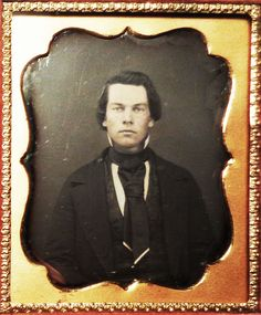 1/6th plate daguerreotype of a handsome young gent, ca. early 1850's (American)