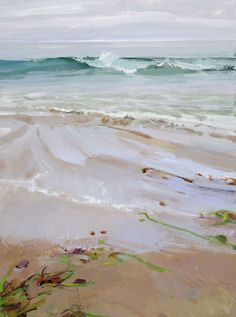 Marcia Burtt, painting of waves on a beach