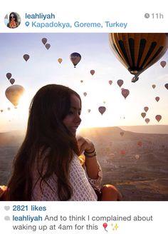 Hot air balloons in Turkey. October 2014. Instagram travel
