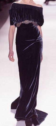Venexiana black velvet gown gold ornament belt off shoulders Source by rockabellasb gowns velvet Look Fashion, High Fashion, Fashion Design, Milan Fashion, Beautiful Gowns, Beautiful Outfits, Robes Glamour, Mode Chic, Black Velvet