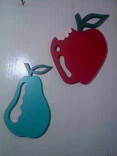 quadro em mdf com frutas em mdf