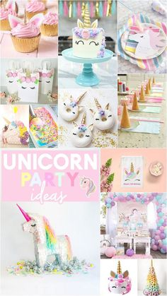Home Interior Contemporary Unicorn Party Ideas - Unicorn Desserts and Unicorn Party Decorations.Home Interior Contemporary Unicorn Party Ideas - Unicorn Desserts and Unicorn Party Decorations Unicorn Themed Birthday Party, Unicorn Birthday Parties, Birthday Party Themes, Birthday Ideas, Unicorn Party Decor, 4th Birthday, Unicorn Birthday Decorations, Birthday Invitations, Gold Party