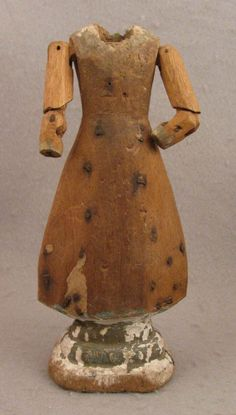 Early 1800s Antique Wooden Doll Body for Religious Creche Church Figure