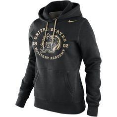 Nike Army Black Knights Ladies School Stamp Pullover Hoodie - Black