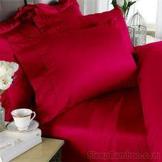 Samba Red SleepBamboo Bedsheets