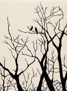 Scherenschnitte: Crows Scherenschnitte