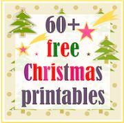 60+Free printable Christmas Templates