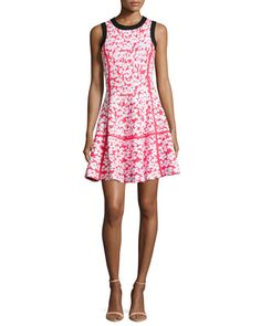 floral jacquard dress by kate spade new york at Neiman Marcus.