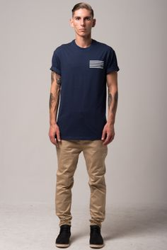 Lines Tee. Drop Crotch Pants, Menswear, Sporty, Tees, Mens Tops, T Shirt, Collection, Style, Fashion