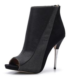 bangfox Women's Zipper Peep-Toe Stiletto High Heel Ankle Boot Platform Sandals find *** This is an Amazon Affiliate link. Click on the image for additional details.