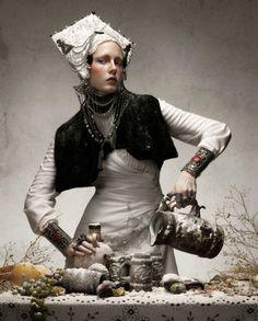 """White Sposa"" magazine spread By Paco Peregrin"