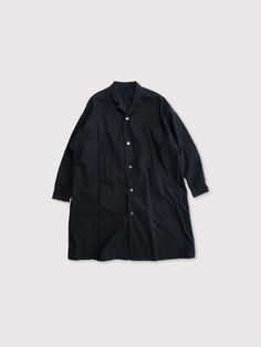 Open collar long shirt 1