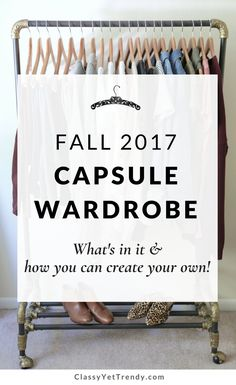 My Fall 2017 Capsule Wardrobe - Find out all the tops, bottoms, layers and shoes that are in my closet, where to find all the items, plus how to create your own. See the step by step process I used to put together this capsule with items such as a twist tee, peplum top, chambray shirt, v-neck lush top, cardigan, suede jacket, jeans, mules, flats and ankle boots.