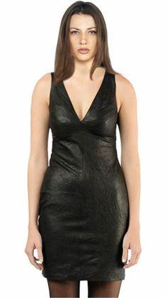 Starlet leather dress for women