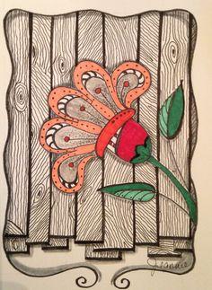 My Zen Tangle / Doodle Art #flower #leaf                                                                                                                                                      More